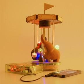 大人の科学マガジン「電磁実験スピーカー」で遊びました。