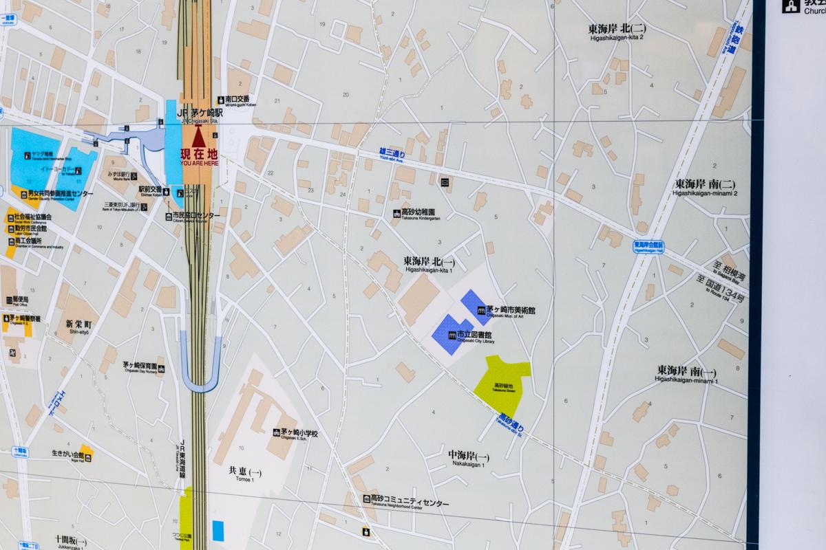 茅ケ崎駅構内の地図