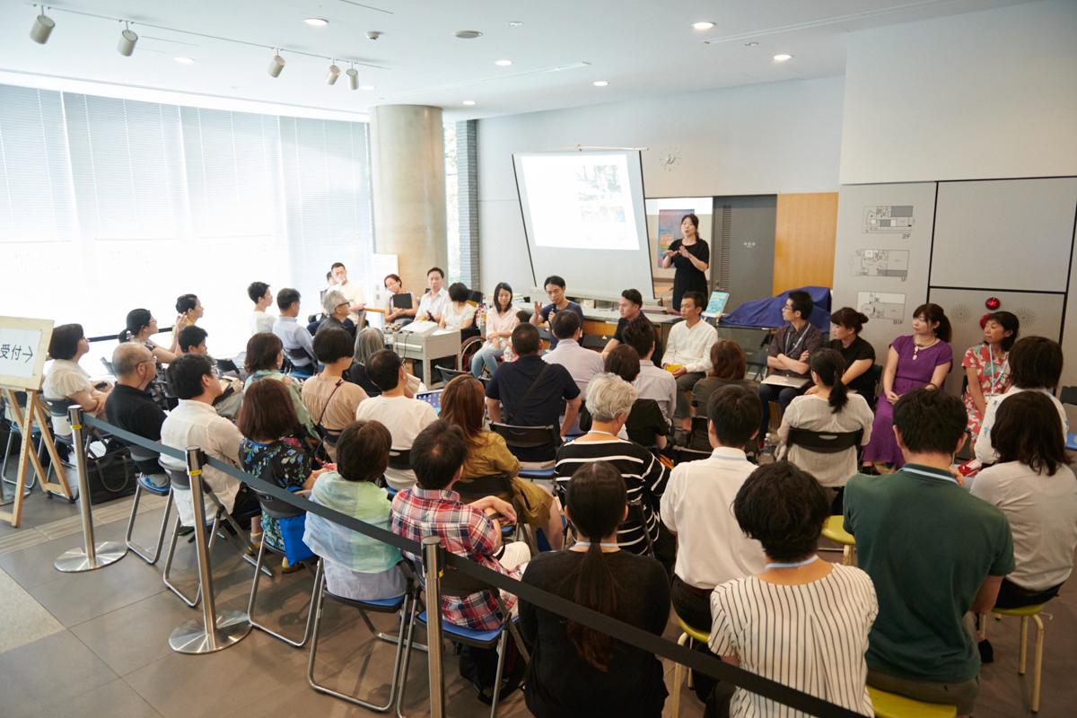 8月10日土曜日に開催されたシンポジウム「フィールドワークからの作品制作」の様子