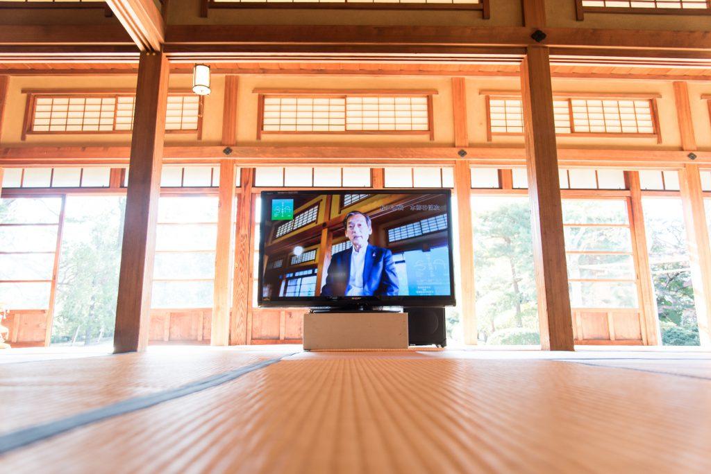 松戸市長の基調講演の映像